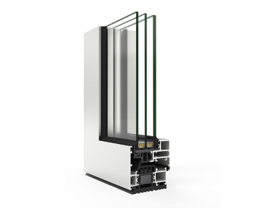 Ventana perfil hoja oculta aluminio